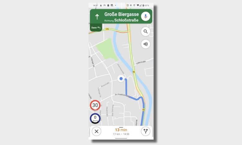 Google Maps Velociraptor Einblendung Geschwindigkeit