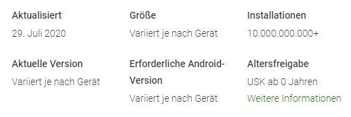 Google Play Dienste 10 Milliarden Downloads