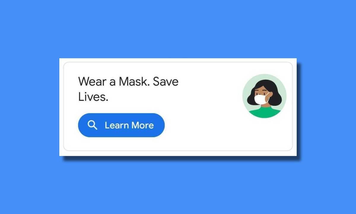 Maskenhinweis Google Maps