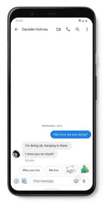Messages Sticker Smart Reply