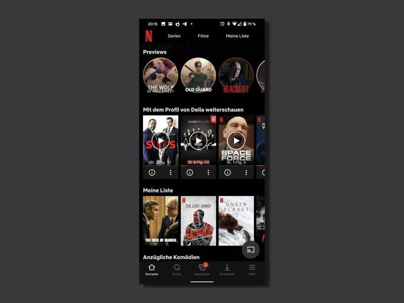 Netflix Android App Screenshot Head