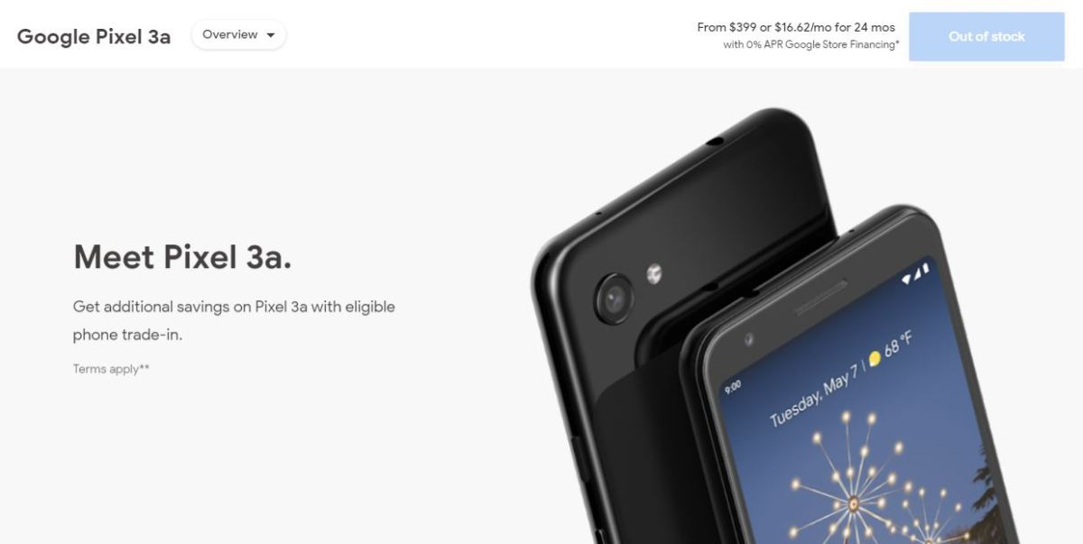 Pixel 3a Out Of Stock