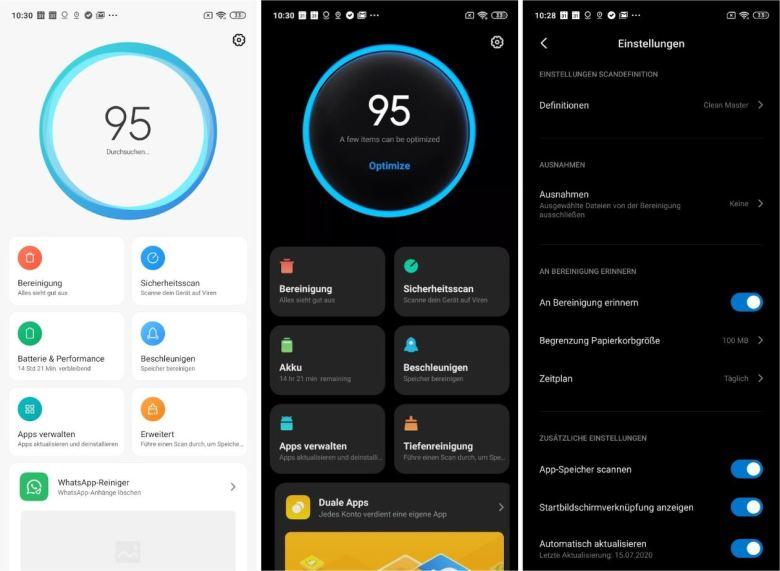 Sicherheits App Xiaomi Version 4 Screenshots