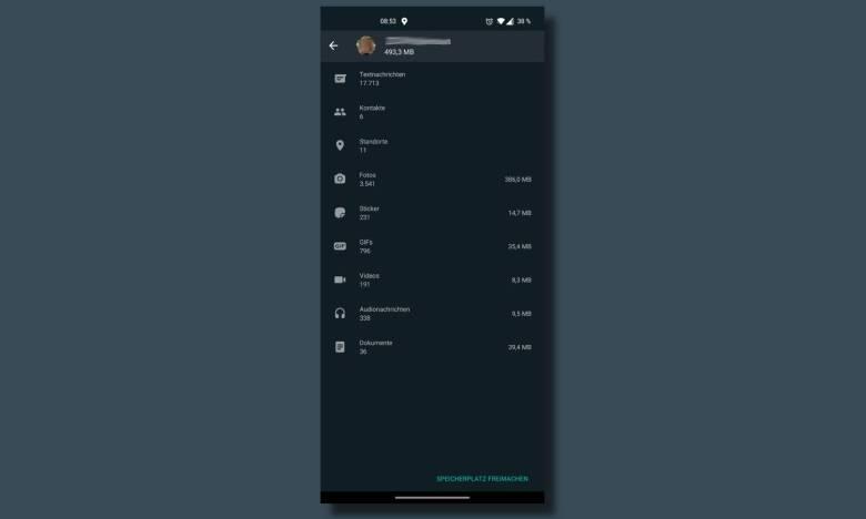 Whatsapp Speichernutzung Pro Person