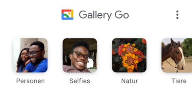 Gallery Go Kategorien