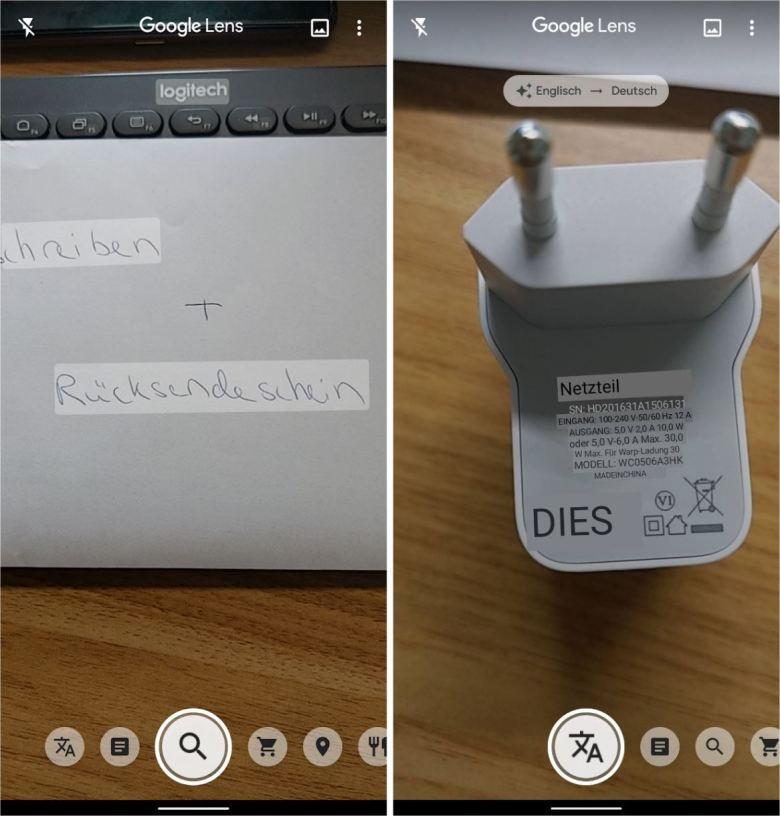 Google Lens Screenshots