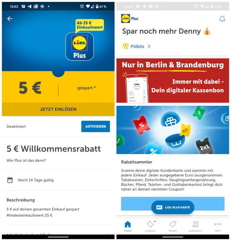 Lidl Plus Screenshots