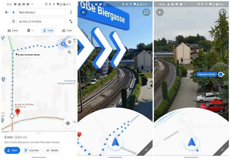 Live View Google Maps Screenshots