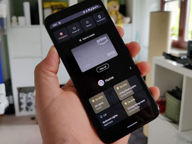 Smart Home Einschaltmenü Android