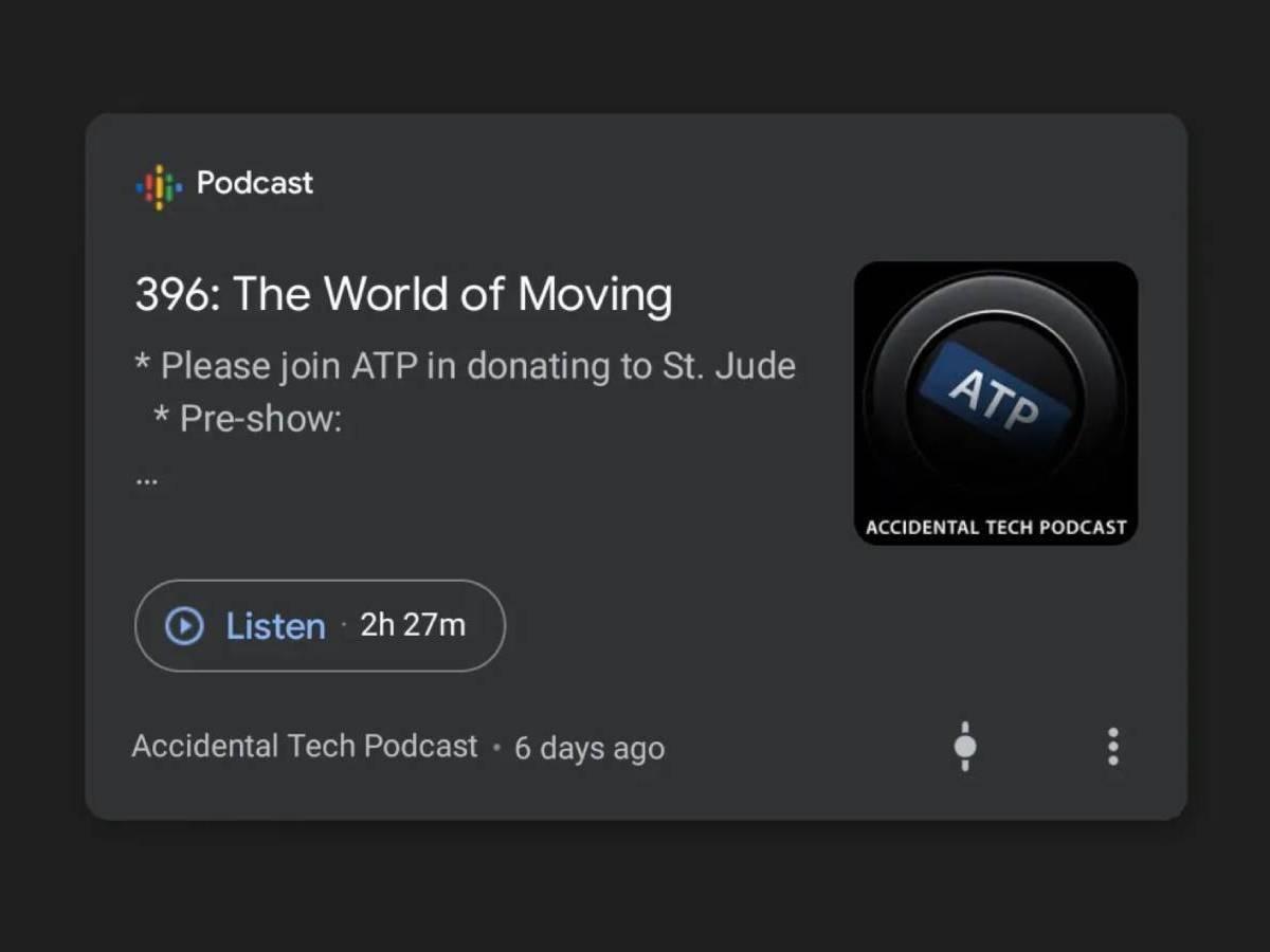 Podcast Karte Google Discover