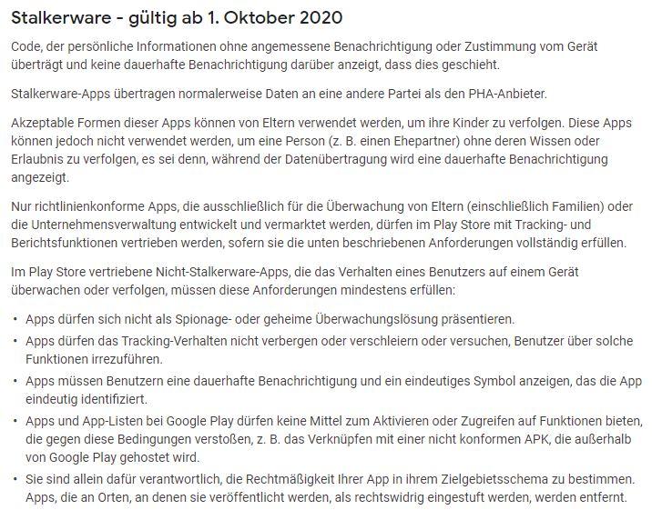 Stalkerware Ab 1 Oktober 2020