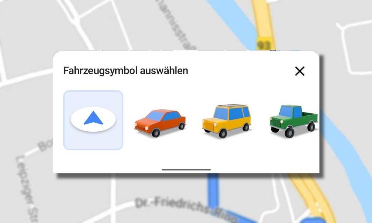 Fahrzeugsymbol Google Maps Navigation