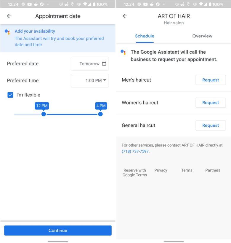 Google Assistant Frisörtermin