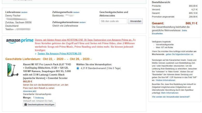 Mi 10t Pro Und Mi Scooter Amazon Angebot