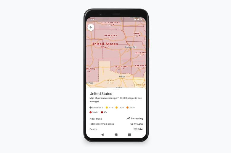 Google Maps Covid Update November 2020