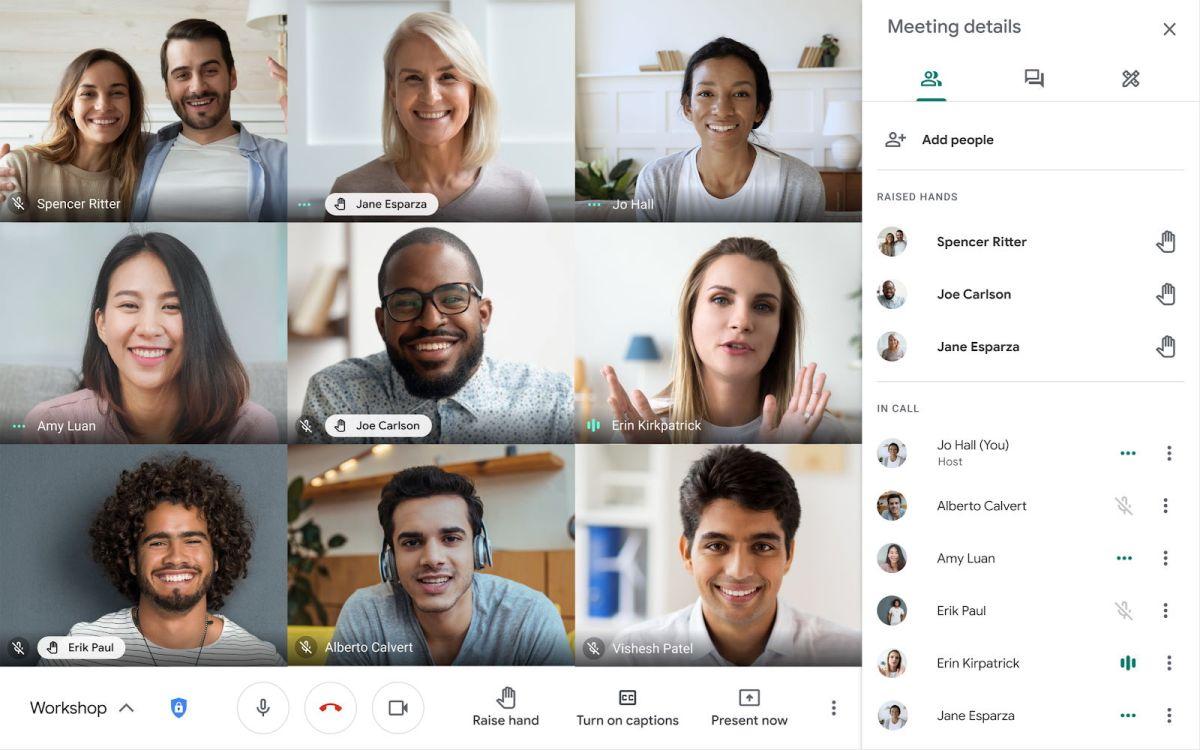 Google Meet Raised Hands Moderator