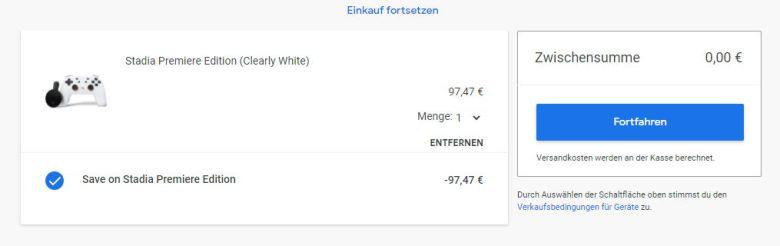 Google Stadia Kostenlos Bestellung