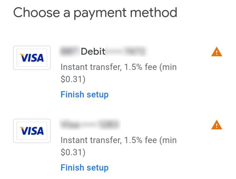 Visa Gebühren Google Pay