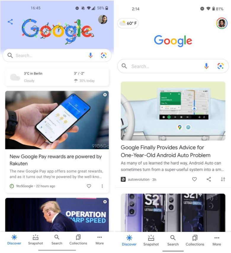 Google Discover Redesign Dezember 2020 2