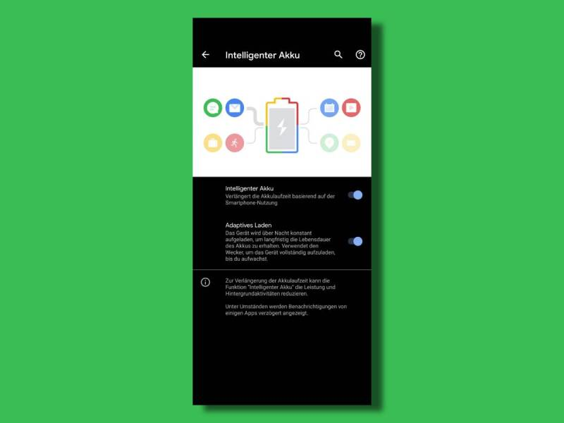 Google Pixel Intelligenter Akku Adaptives Laden