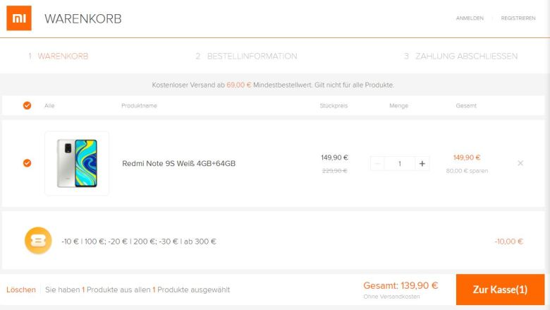 Redmi Note 9s Deal Mi.com