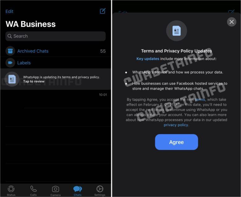 Whatsapp Nutzungsbedingungen In App Ankündigungen
