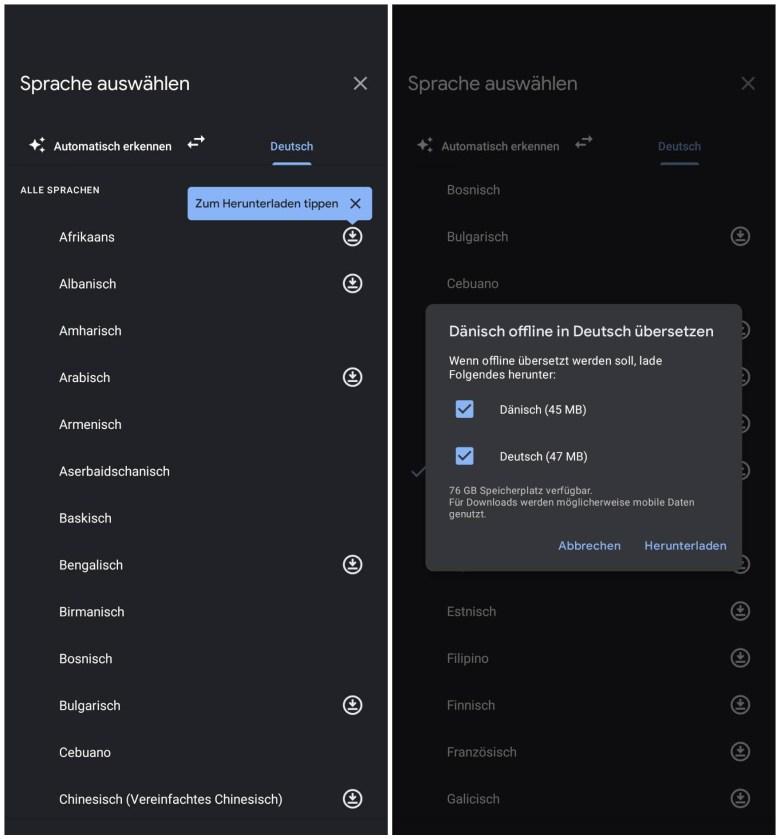 Google Lens Sprachen Download