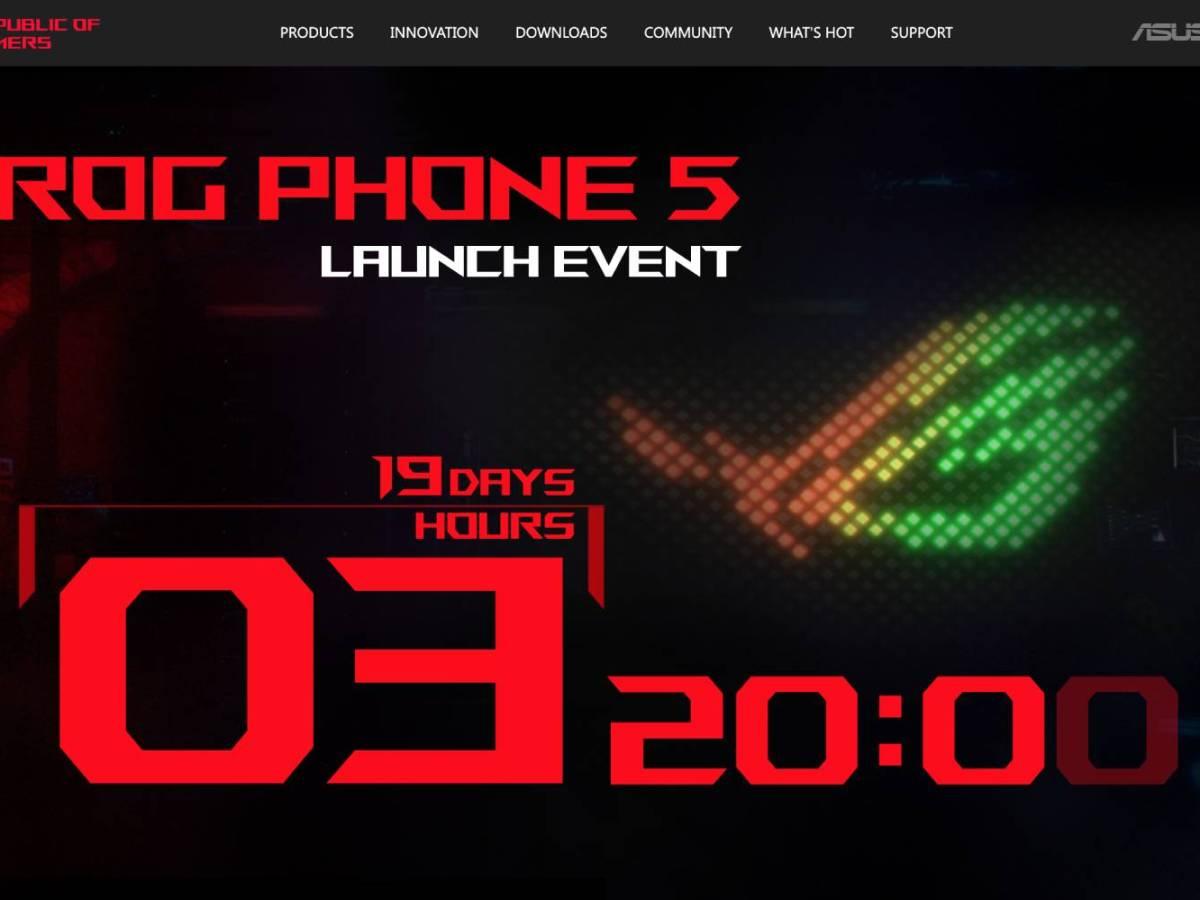 Asus Rog Phone 5 Countdown Release Screenshot