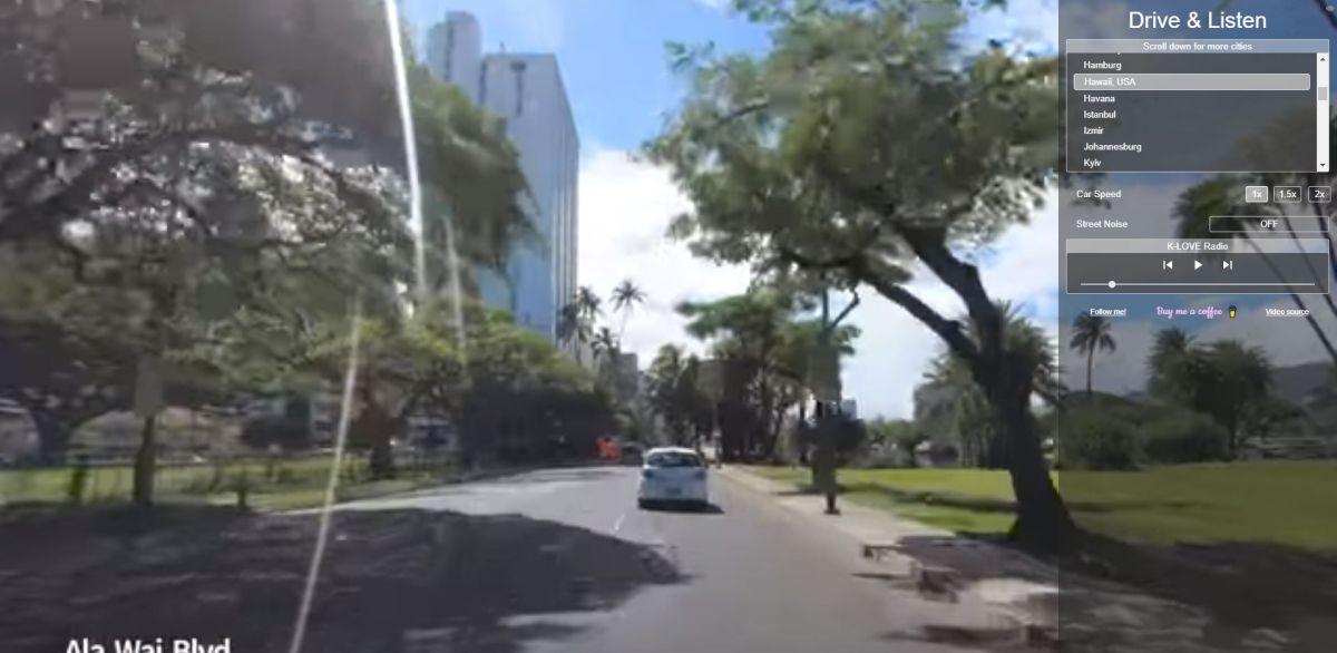 Drive And Listen Hawaii Dashcam Header