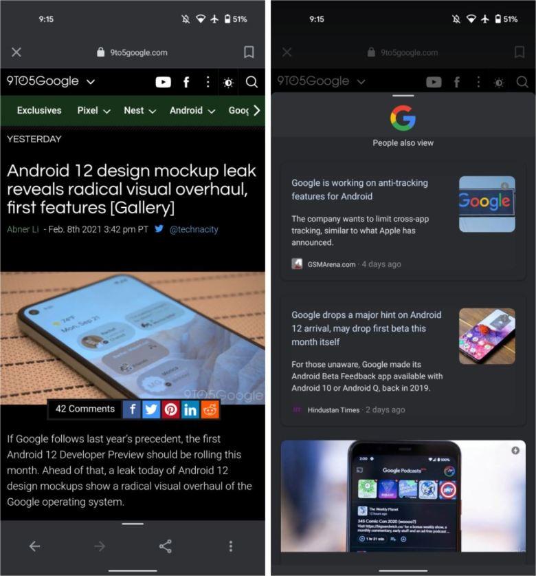 Google App Neuer Browser Feb 2021