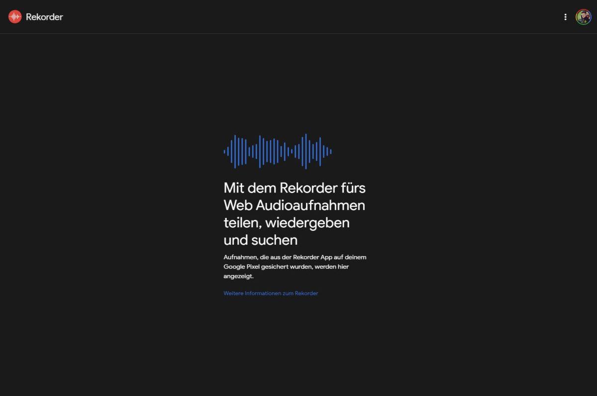 Google Rekorder Webversion