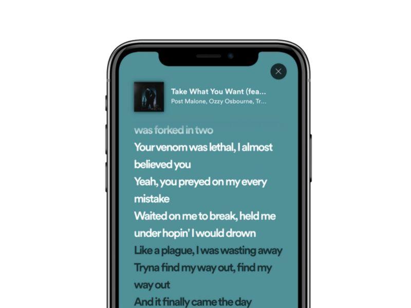 Spotify Lyrics Header