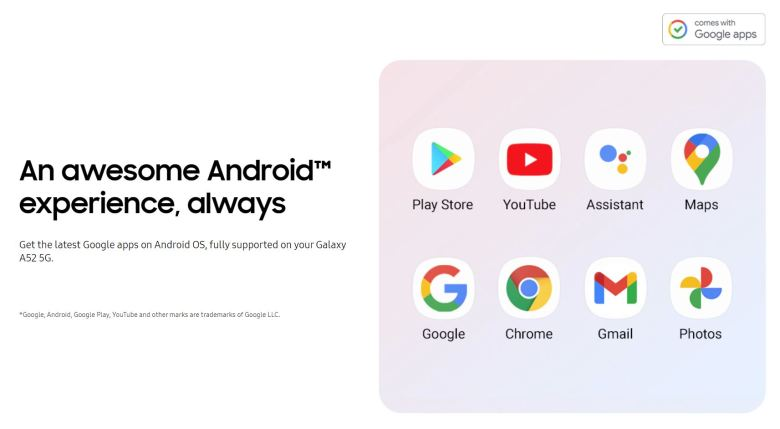 Comes With Google Apps Bei Samsung
