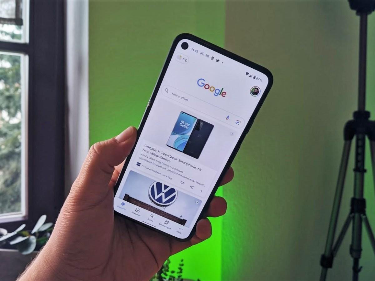 Google Discover Mit Wetterpille Head