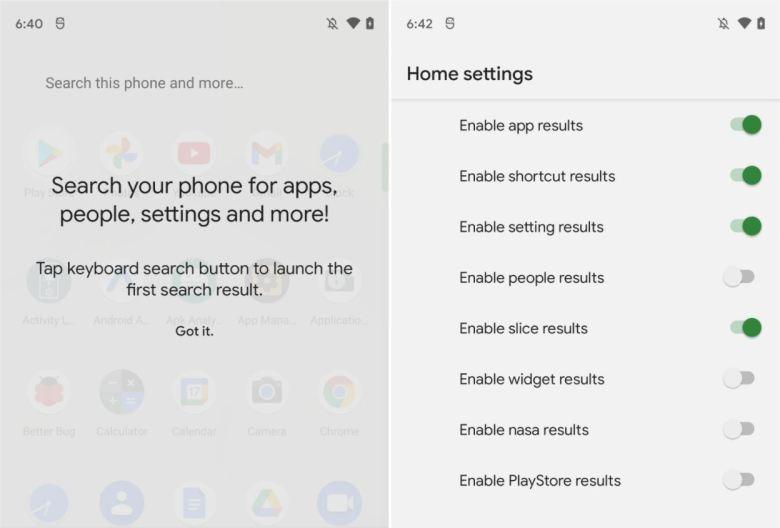 Pixel Launcher Android 12 Vorschau