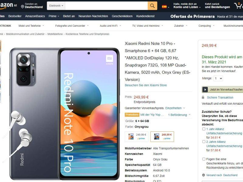 Redmi Note 10 Pro Amazon.es
