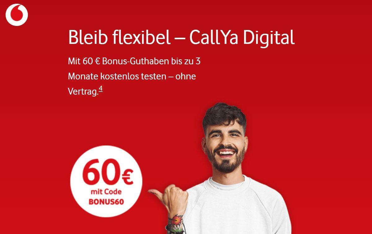 Vodafone Callya Digital 60 Euro Guthaben