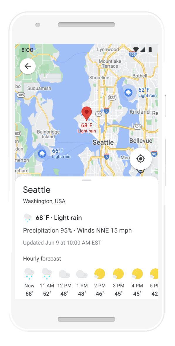 Google Maps úmido