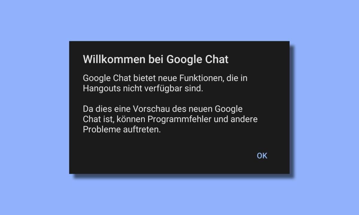 Willkommen Bei Google Chat Meldung