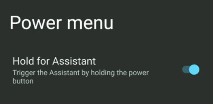 Einschalttaste Hold For Assistant