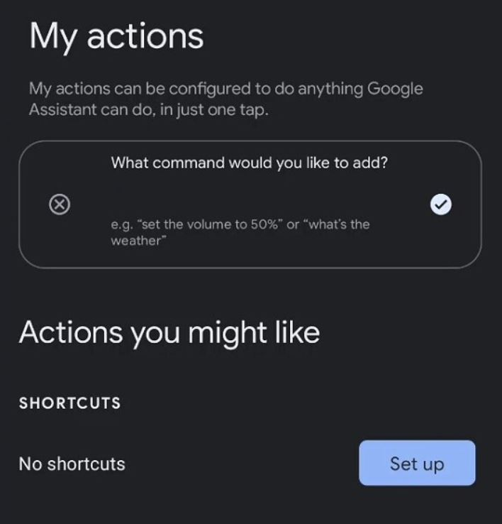 Google Assistant My Actions Leak