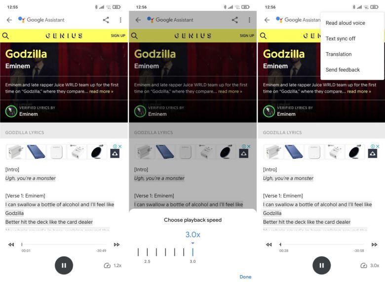Google Assistant Vorlesen Redesign