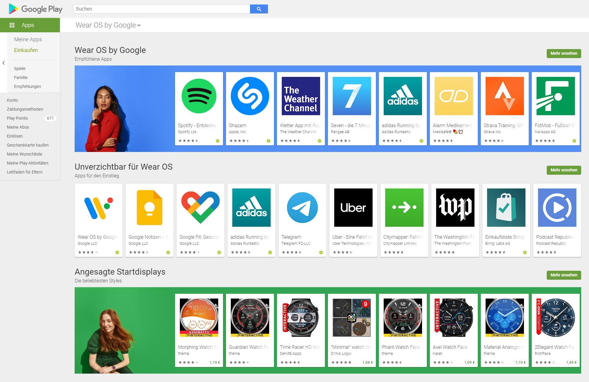 Überraschendes Update für Wear OS-Apps im Google Play Store