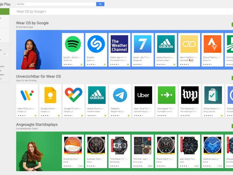 Wear Os Google Play Store Webversion Update April 2021