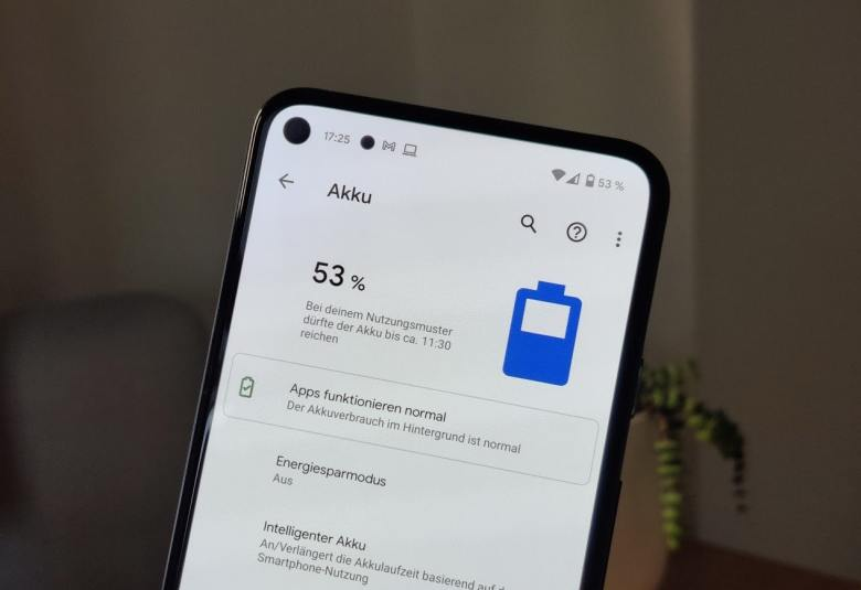 Google Pixel 5 Android 11 Akkustatistik
