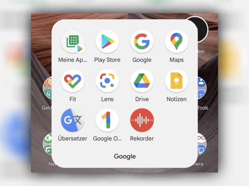 Google Sans Text Schriftart Startbildschirm Android 12