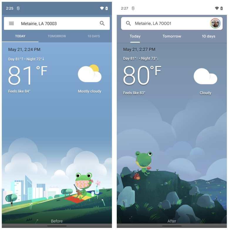 Google Update Wetter App 2021 Vergleich 2