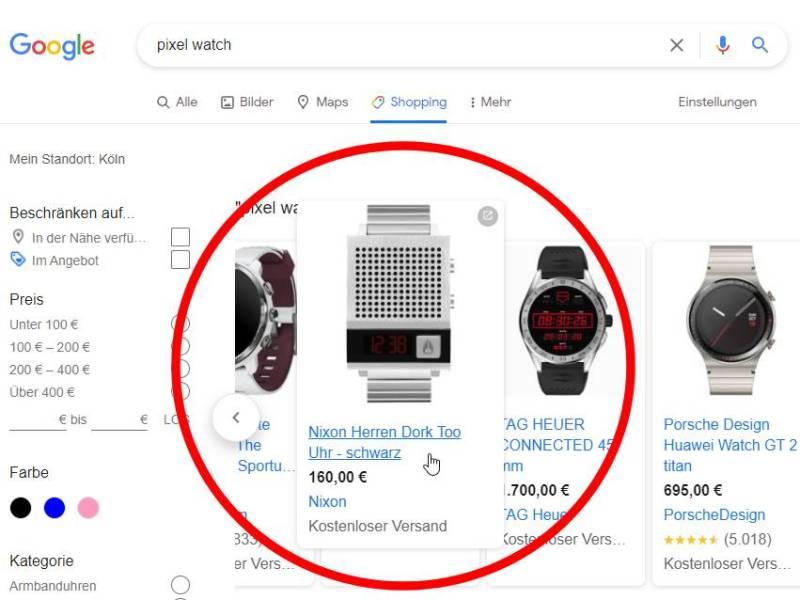 Nixon Dork Too Uhr Pixel Watch