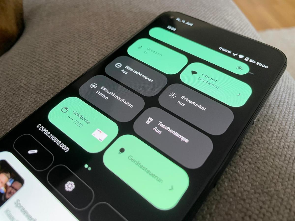 Android 12 Schnelleinstellungen