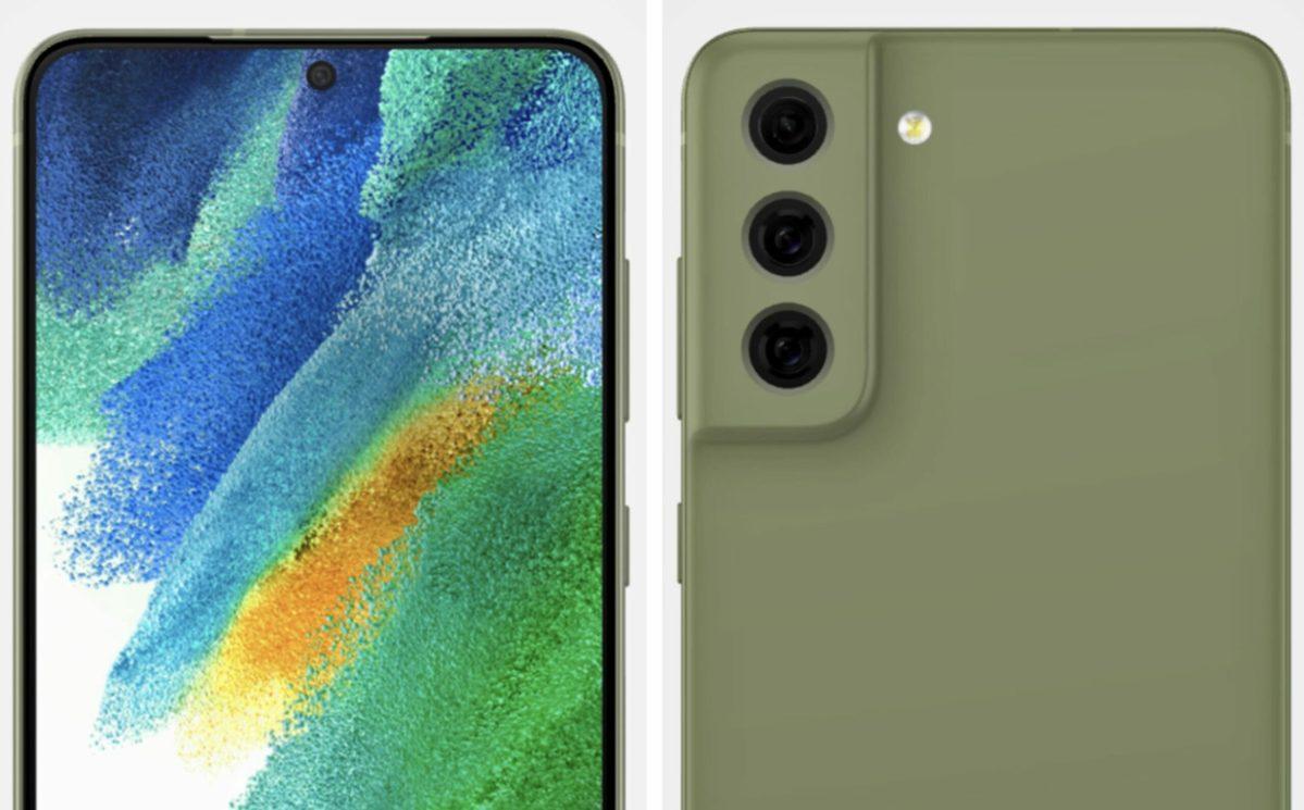 Samsung Galaxy S21 Fe 3d Rendering